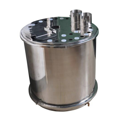 COLO-R01  Round Fluidizing Powder container in Islamabad