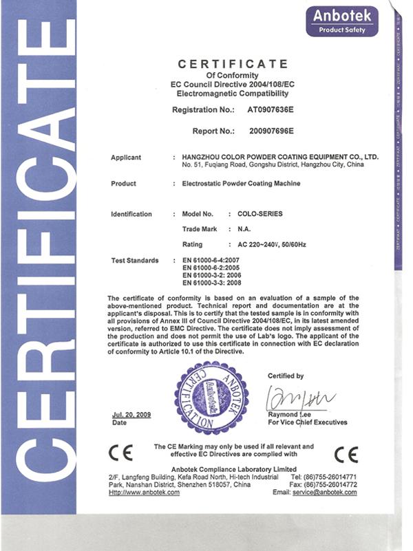 COLO-CE-Cerificate 2